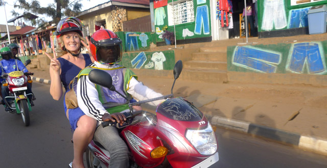 Taking Moto Taxis in Kigali