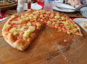 Margerita Pizza with Pineapple
