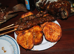 Brochettes and Ibiyari