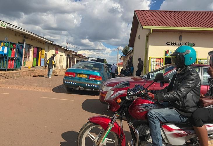 Moto Taxis in Kigali, Rwanda