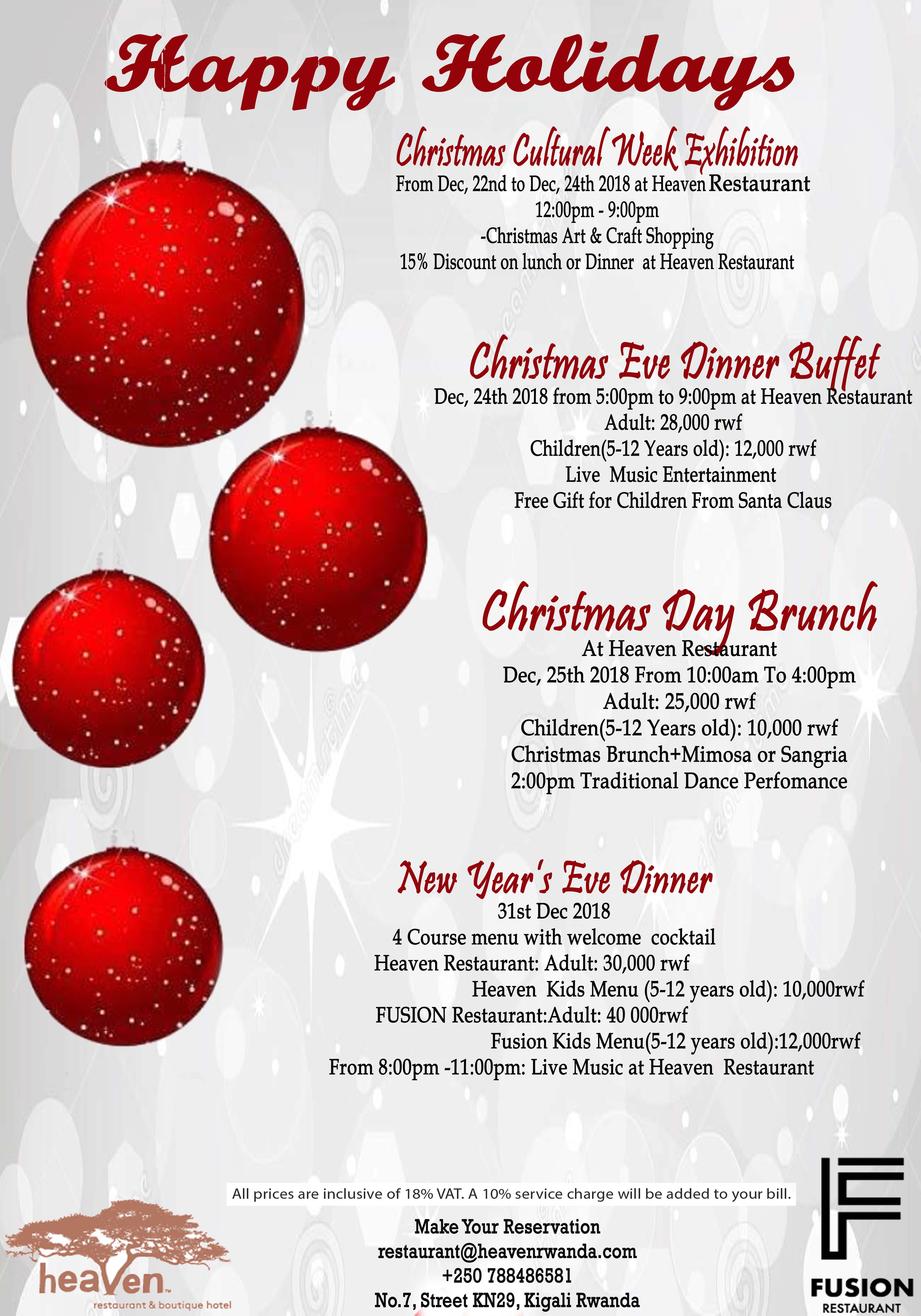 Christmas Eve Dinner Menu.Christmas Eve Dinner Buffet