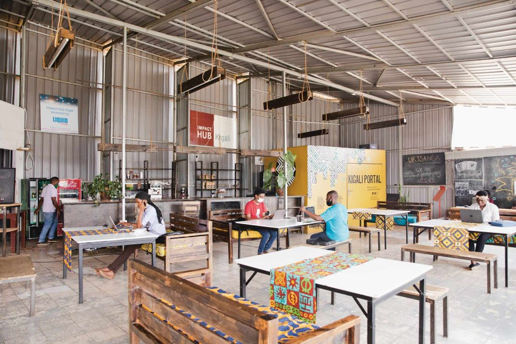Impact Hub coworking space in Kigali